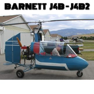 BARNETT J4B-J4B2 GYROPLANE – PLANS AND INFORMATION SET FOR HOMEBUILD – 1 or 2 SEAT VOLKSWAGEN or CONTINENTAL O200 – C65/85