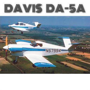 DAVIS DA-5A PLANS FOR HOMEBUILD – SIMPLE 1 SEAT FULL METAL VOLKSWAGEN ENGINE AIRCRAFT