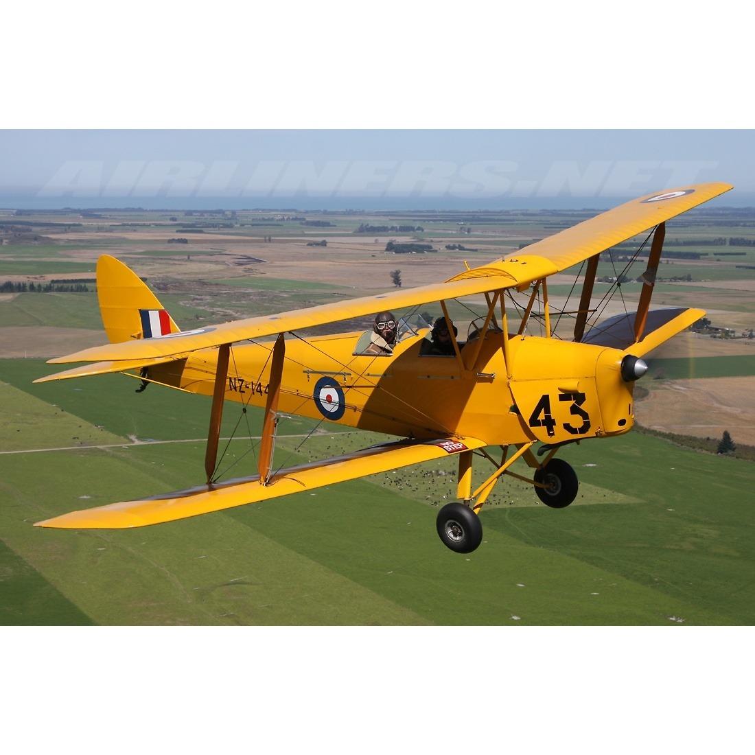 DH82 Tiger Moth Metal Earth