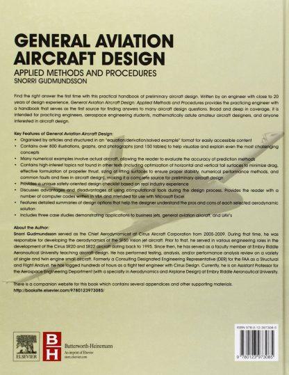 General Aviation Aircraft Design Applied Methods and Procedures ISBN9780123973085 Snorri GudmundssonGeneral Aviation Aircraft Design Applied Methods and Procedures ISBN9780123973085 Snorri Gudmundsson