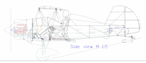 HORNET ART DECO BIPLAN - fantastically stylish golden era biplane
