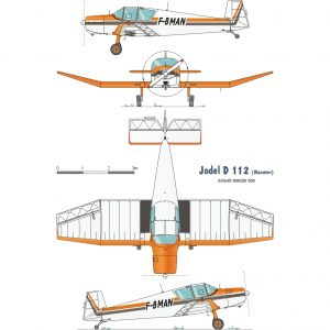 JODEL D11 – PLANS AND INFORMATION SET FOR HOMEBUILD SIMPLE & CHEAP BUILD 2 SEAT WOOD AIRCRAFT