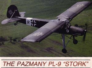 PAZMANY PL-9 STORK – PLANS AND INFORMATION SET FOR HOMEBUILD – REPLICA FIESELER Fi-156 STORCH