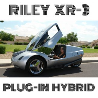 Riley XR3 Plug-In Hybrid 125-225MPGe Vehicle in CAD You can build it from plans!