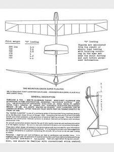 SUPER FLOATER – PART103 ULTRALIGHT SAILPLANE PLANS FOR HOMEBUILD SIMPLE & CHEAP BUILD TUBE-DACRON