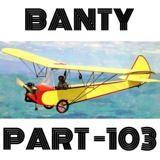 BANTY - PART103 ULTRALIGHT – PLANS AND INFORMATION SET FOR HOMEBUILD SIMPLE WOOD PARASOL - BUY ON SITE - https://buildandfly.shop/product/banty/